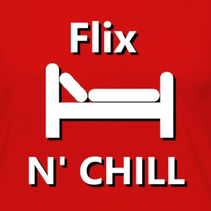 Flix and Chill T-Shirts - Women's Premium Long Sleeve T-Shirt