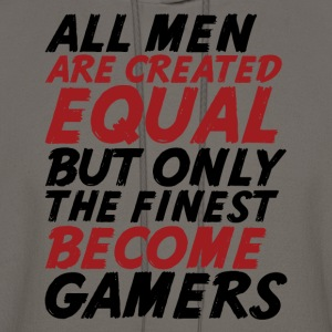 Funny Geek T-shirt Only The Finest Become Gamers - Men's Hoodie