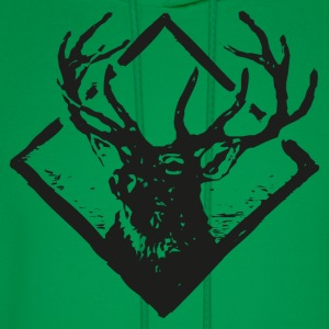 Deer Vintage Badge - Men's Hoodie