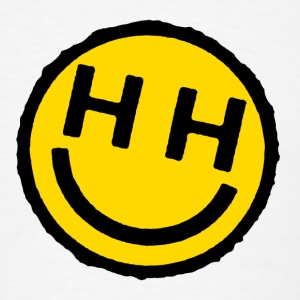 happy hardcore smiley face buttons - Men's T-Shirt