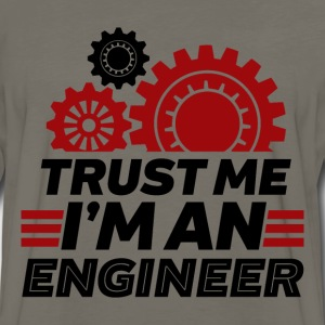 Funny Engineering T-shirt Trust Me I'm an Engineer - Men's Premium Long Sleeve T-Shirt