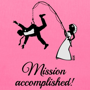 Mission Accomplished / Bride Fishing Husband Women's T-Shirts - Tote Bag