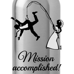 Mission Accomplished / Bride Fishing Husband Tanks - Water Bottle