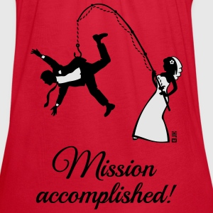 Mission Accomplished / Bride Fishing Husband Women's T-Shirts - Women's Flowy Tank Top by Bella
