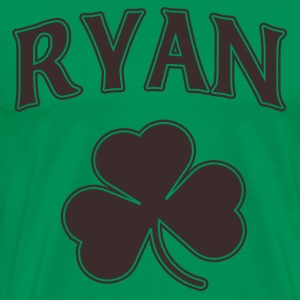 Ryan Irish Shamrock Family Heritage Hoodies - Men's Premium T-Shirt