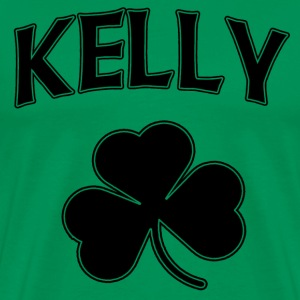Kelly Irish Shamrock St Patricks Day Hoodies - Men's Premium T-Shirt