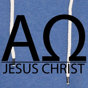 God Alpha & Omega T-Shirts - Unisex Lightweight Terry Hoodie