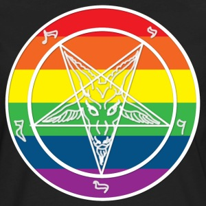 Baphomet Rainbow pride T-Shirts - Men's Premium Long Sleeve T-Shirt