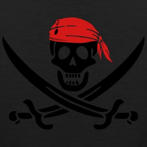 jolly roger pirate swords Women's T-Shirts - Men's Premium Tank