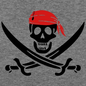 jolly roger pirate swords Women's T-Shirts - Women's Wideneck Sweatshirt