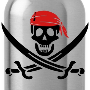 jolly roger pirate swords Women's T-Shirts - Water Bottle