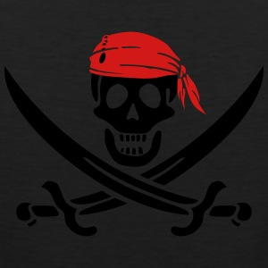 jolly roger pirate swords T-Shirts - Men's Premium Tank