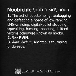 Men's Noobicide Definition hoodie - Men's T-Shirt