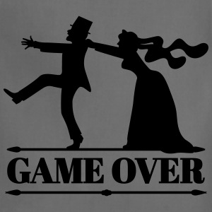 game over bride groom bachelor bachelorette party  T-Shirts - Adjustable Apron