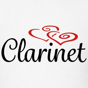 Clarinet Hearts - Men's T-Shirt