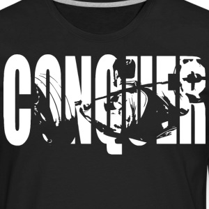 CONQUER (Squat) T-Shirts - Men's Premium Long Sleeve T-Shirt