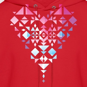 Aztec/Triangle Heart - Men's Hoodie