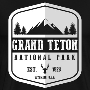 Grand Teton National Park Hoodies - Men's Premium T-Shirt