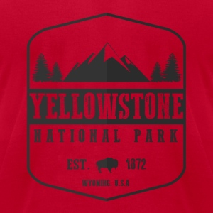 Yellowstone National Park Long Sleeve Shirts - Men's T-Shirt by American Apparel