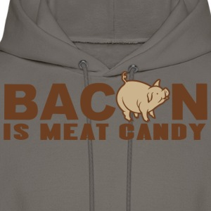 BACON IS MEAT CANDY - Men's Hoodie
