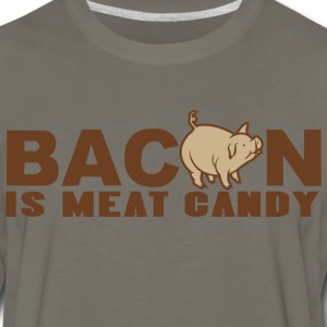 BACON IS MEAT CANDY - Men's Premium Long Sleeve T-Shirt