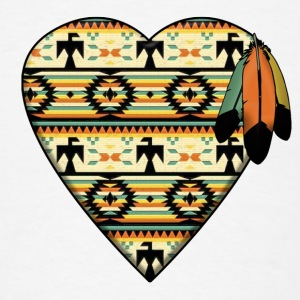 Native American Heart Buttons - Men's T-Shirt