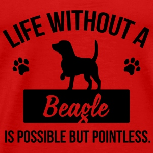 Dog shirt: Life without a beagle is pointless Tanks - Men's Premium T-Shirt