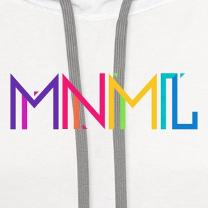 Minimal Type (Colorful) Typography - Design Baby Bodysuits - Contrast Hoodie