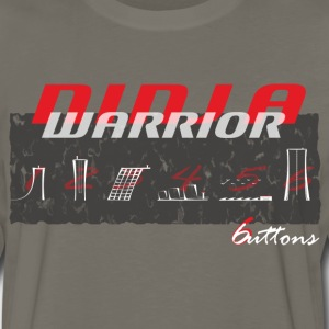 Ninja Warrior 6 Buttons T-Shirts - Men's Premium Long Sleeve T-Shirt