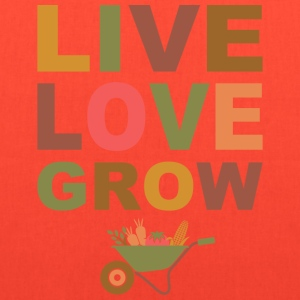 Live Love Grow Women's T-Shirts - Tote Bag