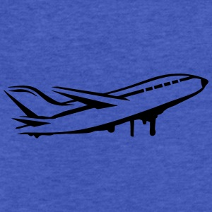 An airplane Sweatshirts - Fitted Cotton/Poly T-Shirt by Next Level