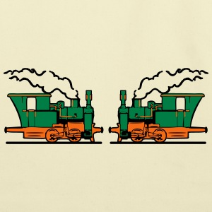 Steam Locomotives railroad small T-Shirts - Eco-Friendly Cotton Tote