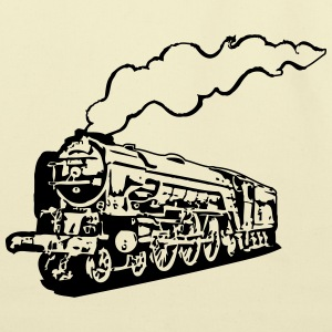 dampflok railroad locomotive tender romance T-Shirts - Eco-Friendly Cotton Tote