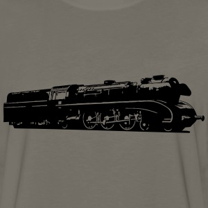 dampflok railroad locomotive T-Shirts - Men's Premium Long Sleeve T-Shirt