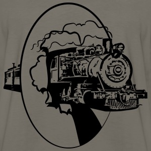 dampflok railroad lok cool T-Shirts - Men's Premium Long Sleeve T-Shirt