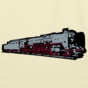 dampflok railroad locomotive T-Shirts - Eco-Friendly Cotton Tote