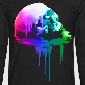 Melting Skull in Vivid Colors - Men's Premium Long Sleeve T-Shirt