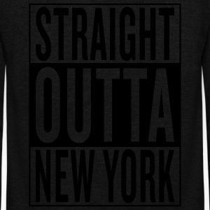 straight outta New York Women's T-Shirts - Unisex Fleece Zip Hoodie by American Apparel