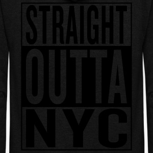 straight outta NYC T-Shirts - Unisex Fleece Zip Hoodie by American Apparel