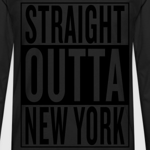 straight outta New York T-Shirts - Men's Premium Long Sleeve T-Shirt
