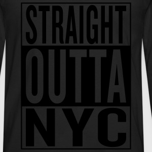 straight outta NYC Women's T-Shirts - Men's Premium Long Sleeve T-Shirt