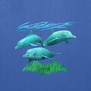 3 Dolphins - Tote Bag