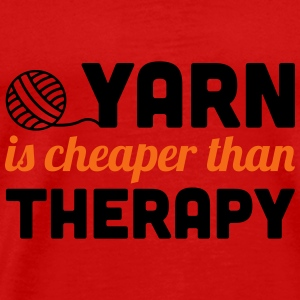 Yarn is cheaper than therapy Tanks - Men's Premium T-Shirt