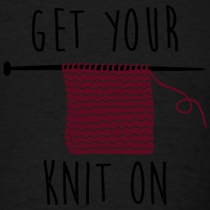 get your knit on Long Sleeve Shirts - Men's T-Shirt