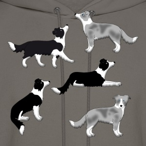 Border Collie Auswahl T-Shirts - Men's Hoodie