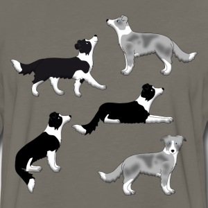 Border Collie Auswahl T-Shirts - Men's Premium Long Sleeve T-Shirt