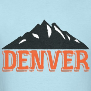 Vintage Denver Rocky Mountains  Baby Bodysuits - Men's T-Shirt