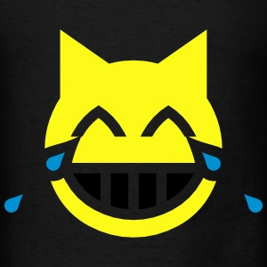 Tears of Joy Emoji Cat Hoodies - Men's T-Shirt