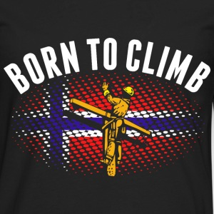 Born To Climb Norwegian Lineman - Men's Premium Long Sleeve T-Shirt