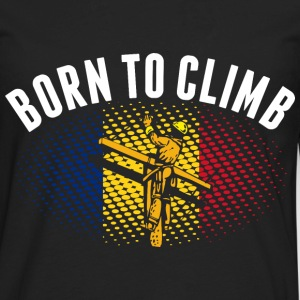 Born To Climb Romanian Lineman - Men's Premium Long Sleeve T-Shirt
